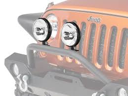 rugged ridge wrangler 6 in slim halogen fog lights black pair