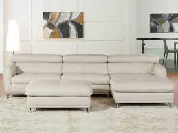 canapé ivoire canapé d angle cuir de vachette 5 places ivoire 53964 53965