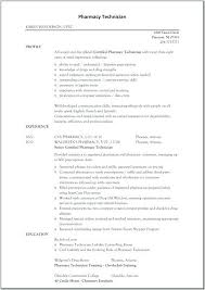 Technology Resume Template Resume Hospital Pharmacy Technician Job Description Resume