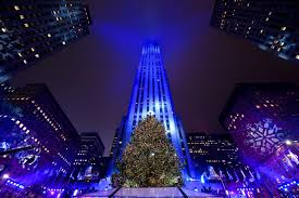 rockefeller center tree lit amid heightened security tbo