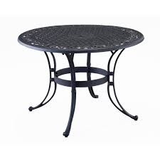 Folding Patio Furniture Set by Home Styles Biscayne 48 In Black Round Patio Dining Table 5554 32