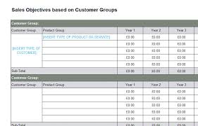 marketing plan sales objectives template bizorb