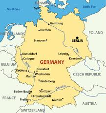 map of gemany map germany