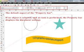 coreldraw x5 not starting graphic tutorials coreldraw basics the property bar