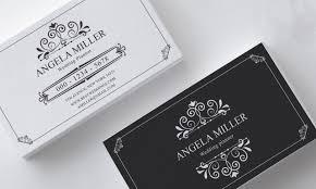 Business Card Wedding Feminine Business Card Template Modern Business Card Design