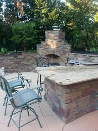 outdoor fire pit charlotte pavers and stone