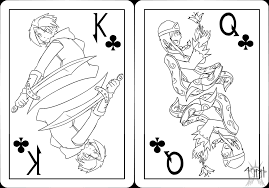 random sketches chap 63 king and queen of clubs by lightning in