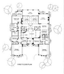courtyard house plans hwbdo69676 house plans pinterest
