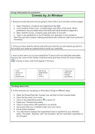 comets students interactive worksheet 1