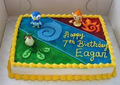 Homemade Pokemon Birthday Cake With Buttercream Icing Yummy Eats