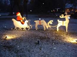 lawn reindeer with lights outdoor christmas decorations santa and reindeer christmas decor