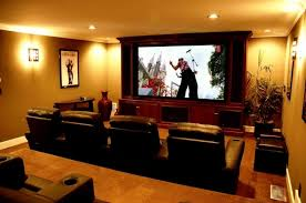 Home Theater Shack Diy Screen Small Kitchen With Island Design - Home theater design layout