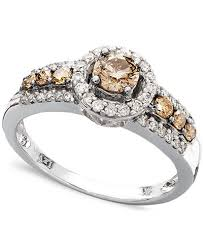 levian engagement rings le vian chocolate and white diamond ring in 14k white gold 3 4 ct