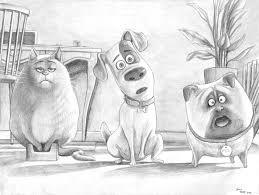 secret life of pets sketch by soulstryder210 on deviantart