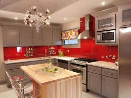 Red Backsplash Kitchen Kitchen Small Colorful Kitchen Design Green Kitchen Island With