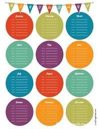 Free Birthday Calendar Template Excel Best 25 Birthday Calendar Ideas On Birthday Reminder