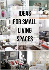 Home Decor For Small Spaces Ideas For Small Living Spaces