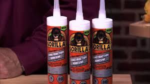 landscape block adhesive gorilla heavy duty construction adhesive bonds nearly anything
