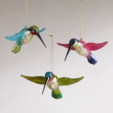 flying hummingbird ornaments set of 3 hummingbird ornament and