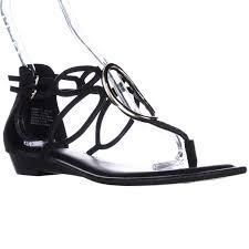 amazon com zigi soho s zigi soho markah strappy metal embellished flat sandals black