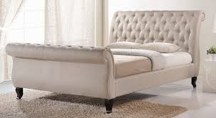 Upholstered Sleigh Bed Antoinette Upholstered Sleigh Bed Reviews Birch
