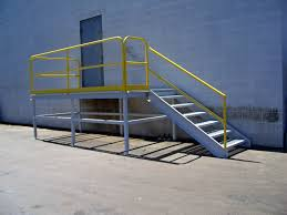 steel metal stair railing ladder and platform fabrication