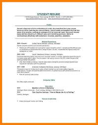 Sample Resume Recent College Graduate by Resume Template For Recent College Graduate Sample College