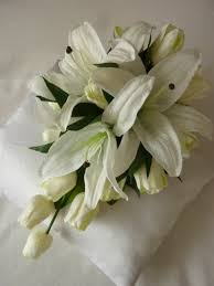 Tulip Bouquets Splendor Tulip And Lily Bouquet Artificial Wedding Bouquet