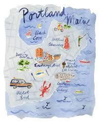 Portland Me Map by Portland Maine Travel Guide Domino