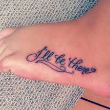 cute tattoo quotes for foot