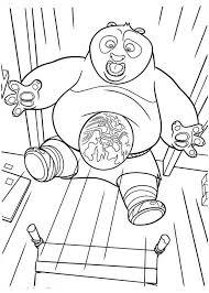 po u0027s big stomach kung fu panda coloring download