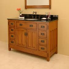 Mission Vanity Craftsman Style Bathroom Vanity Bonus Room Craftsman Bath