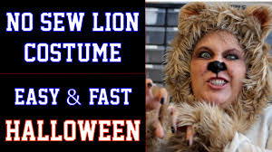 Halloween Lion Costume Sew Lion Halloween Costume Diy Fast Easy Wizard Oz