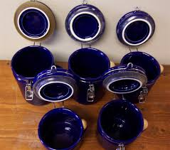 oggi kitchen canisters www m37auction oggi cobalt blue canister set