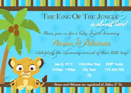 lion king themed baby shower lion king themed baby shower invitations baby shower diy