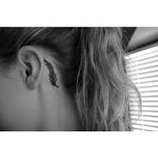 collection of 25 small black cross on back ear