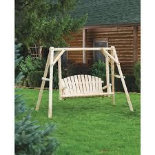 jack post north woods 2 person log patio swing u0026 frame nw 59n