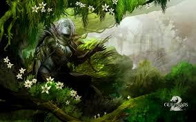 game guild wars artwork fantasy art nature video games women