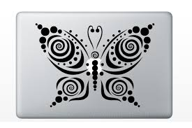 tribal butterfly swirls dot design vinyl decal stickers