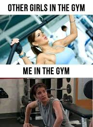 Girls At The Gym Meme - repinned from pinteest don t be this person in gym class be the