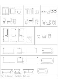 Floor Plan Bathroom Symbols by Free Cad Blocks Bathroom First In Architecture