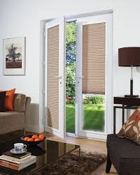 Enclosed Blinds For Sliding Glass Doors Install Woven Wood Blinds For French Doors