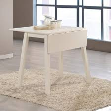 white drop leaf dining table new haven off white drop leaf space saving dining table furniture123
