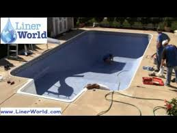 how to install in ground swimming pool liners in 5 minutes or less