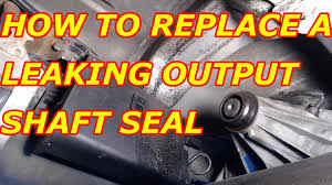 how to replace a leaking rear transfer case output seal chevy