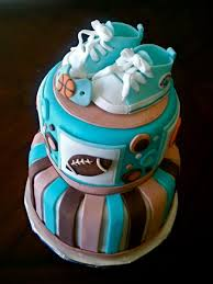 sports theme w converse baby shoes shower cake cakecentral com