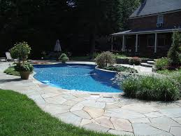 Backyard Pool Cost by Best Semi Inground Pools Ideas