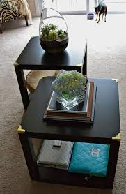 ikea hack diy trunk cube tables made from four lack side tables