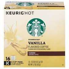 starbucks vanilla coffee k cup pods 16ct target
