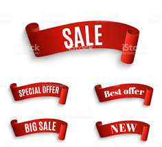ribbon sale big sale bannersuper sale banner ribbon vector illustration stock
